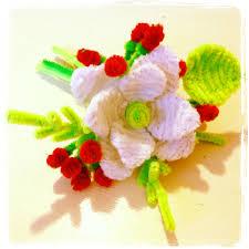 Halloween Pipe Cleaner Crafts Pipe Cleaner Flower Bouquet זר פרחים עשוי ממנקי מקטרות Figuras