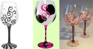 wine glass painting glass class wed may 10 7pm at pinot u0027s palette liberty township