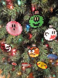 handmade nintendo christmas ball ornaments complete set of 9