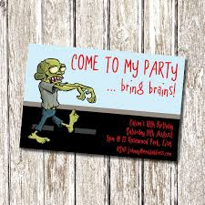 Personalised Birthday Invitation Cards Zombie Birthday Party Invitation Printable And Personalised