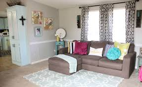 Mobile Home Curtains Mobile Home Living Room Reveal Re Fabbed