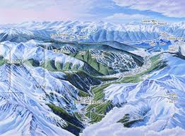 Breckenridge Ski Map Loveland Pass Colorado James Niehues Map Artist Ski Maps