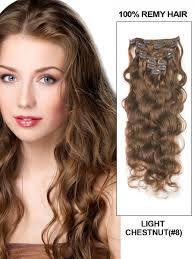light brown hair piece clip in hair extensions cheap human remy clip in hair online