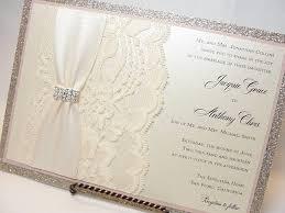 lace invitations lace wedding invitations glitter wedding invitations