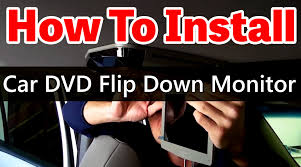 how to install an overhead car dvd player with sunroof www