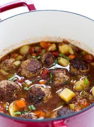 meatball and potato soup