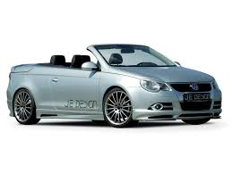 volkswagen convertible eos white 2007 je design volkswagen eos side angle white background