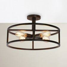4 Light Ceiling Fixture Clearly Modern Semi Flush Ceiling Light Ceiling Modern And Lights