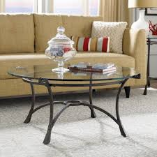 round glass coffee table metal base black top wcp thippo