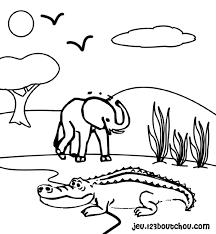 109 dessins de coloriage Crocodile à imprimer