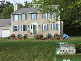 Front Yard Landscape Design by Colonial Front Yard Landscape Design Bridgewater Ma Front Of