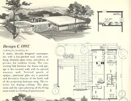 mid century modern house plans courtyard home