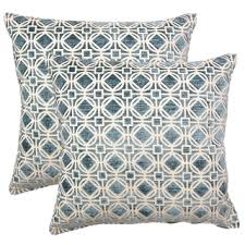 blue and gray sofa pillows hoonah grey geometric down filled throw pillow throw pillow sets