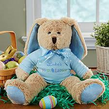 personalized easter bunnies personalized stuffed easter bunny baby boy s easter blue