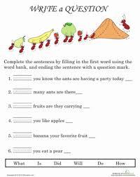 writing questions worksheet education com