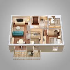floor plan scene 3d model