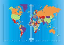 Global Time Zones Map by International Time Zones Kidspressmagazine Com