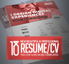 Cv Resume Templates 18 Professional Cv Resume Templates And Cover Letter Design