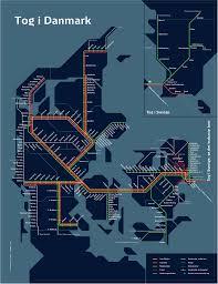 map of danish rail network travelholic maps pinterest