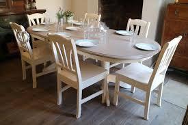 farmhouse extendable dining table and 6 chairs shabby chic table