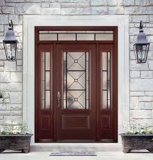 Glass For Front Door Panel by Belleville Mahogany Textured 1 Panel Hollister Door 3 4 Lite With