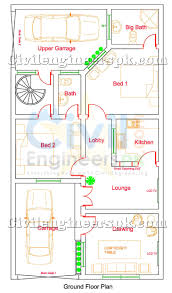 5 marla house design for 2 separate families civil engineers pk