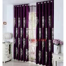 Dark Purple Shower Curtain Embroidered Classic Pattern Chenille Dark Purple Curtains Buy