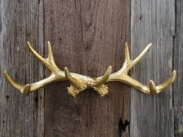 wall antlers gold large antler wall decor deer by junkintime