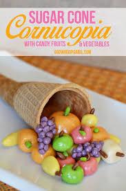 sugar cone thanksgiving cornucopia