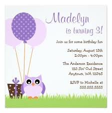 owl balloons purple owl balloons birthday invitations square invitation card