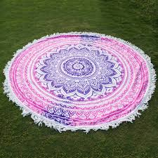 boho gypsy home decor 1 pcs trendy round beach throw tapestry hippy boho gypsy cotton