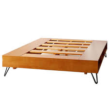 innovative platform storage bed with copeland monterey wood