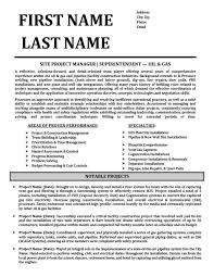 Construction Engineer Resume Sample Oil And Gas Resume Templates Samples U0026 Examples Resume