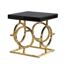 Black Side Table The Mackintosh Gold Black Glass Side Table Shropshire Design