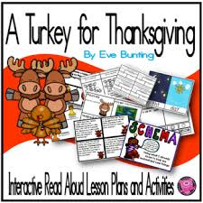 a turkey for thanksgiving interactive read aloud lesson plans and
