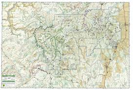 Escalante Utah Map by Manti La Sal National Forest National Geographic Trails