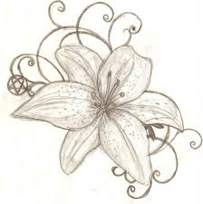 tiger flower drawing water lilies tattoos designs bouquet