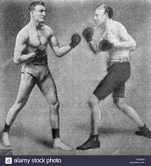 solar plexus punch boxing bob fitzsimmons 1863 1917 british boxer v peter felix stock