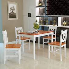 dining table and 4 chairs set wooden dining room home kitchen