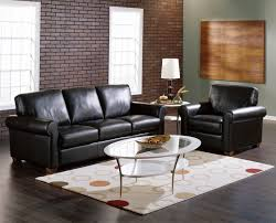 Commando Black Sofa Furniture Dashing Black Leather Sofa Set For Classy Living Room
