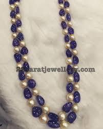 sapphire bead necklace images Blue sapphire beads set jewellery designs jpg