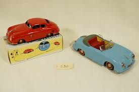 porsche model car model cars x 2 porsche 356 tinplate 1 period distler cabriolet