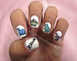 daily nail art dinosaurs blog flauntme mani pedi anyone