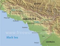 map of abkhazia abkhazia physical map
