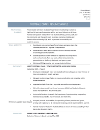 Soccer Coach Resume Sample by Football Coaching Resume Objective Youtuf Com