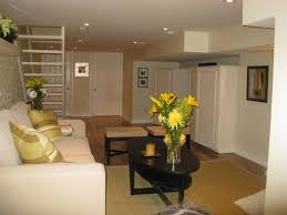 home basement ideas comfortable small basement idea for the home theater having brown