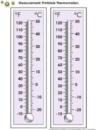 thermometer measurement tools printable thermometer celsius and
