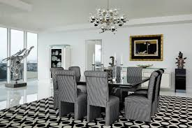black and white dining room dining room in miami beach fl by john barman inc