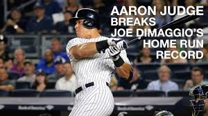 Aaron Judge Breaks Joe Dimaggio S Yankees Rookie Home Run Record - yankee game vlog aaron judge homerun breaks joe dimaggio record