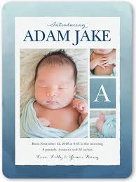 birth announcement wording gradient watercolor boy birth announcement baby birth
